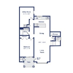 Mulberry 1BR 1BA 1100sf